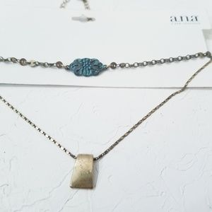 a.n.a Choker Set Turquoise and Gold Adjustable D2